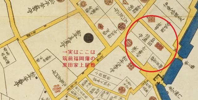 真田家上屋敷の場所。