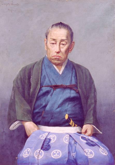 原田直次郎 《毛利敬親肖像》 明治23年(1890)