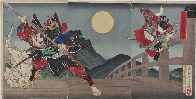 「義経記五條橋之図」明治14年(1881)