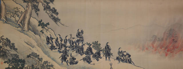 「白虎隊自刃の図」(個人蔵)