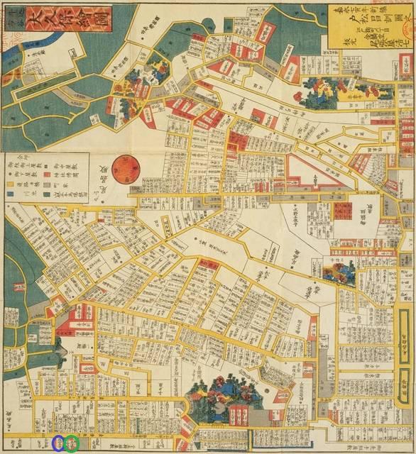 地図の南西部が今の新宿です。前掲の古地図で切れている部...