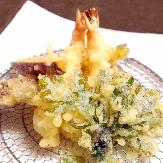 揚げたて天ぷら。