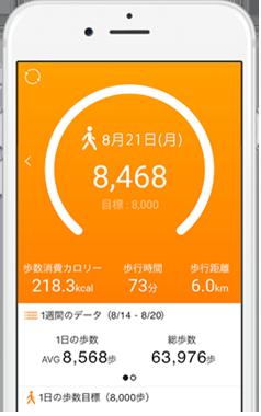 無料の歩数計アプリ「ヘルスプラネットWalk」で気軽に...