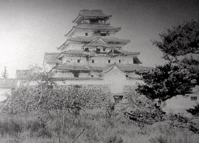 損傷した会津若松城