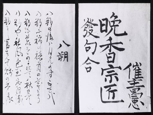 「晩香宗匠発句合」(渋沢平九郎の俳句下案)