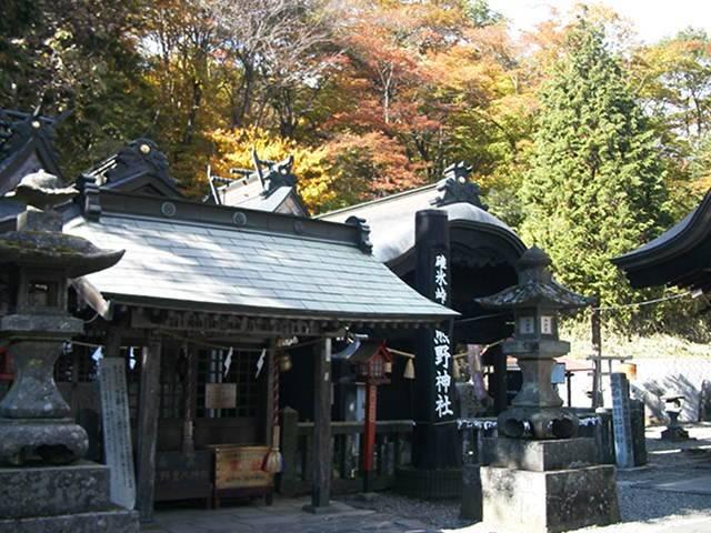 熊野神社:碓氷峠の頂上にあるということで、見晴らしも抜群