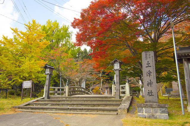 「紅葉の美しさが有名でもある土津(はにつ)神社」