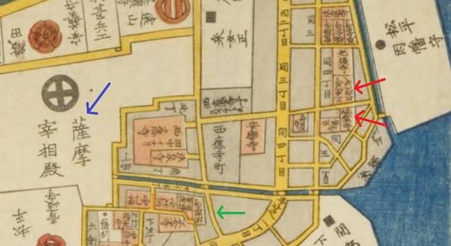 江戸切絵図「芝高輪絵図」の北東部分を拡大した図