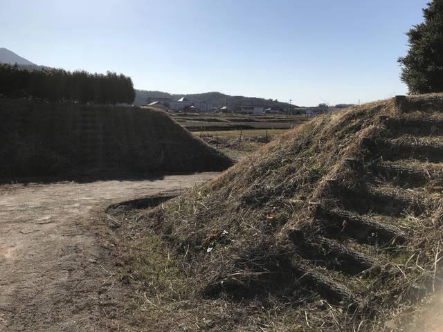 真壁城の復元土塁と食い違い虎口
