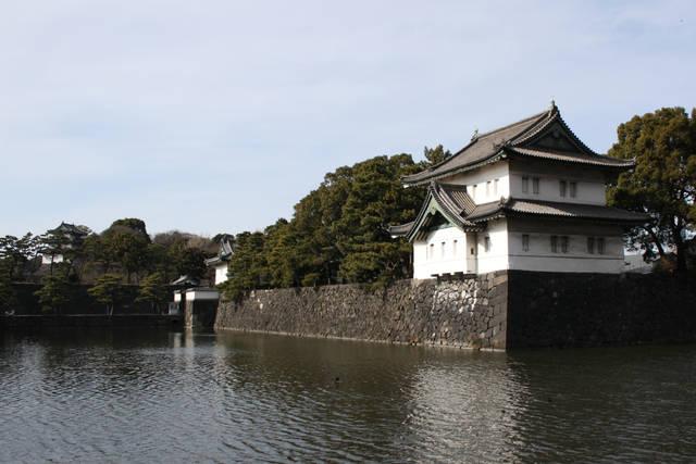 巽櫓と桔梗門と富士見櫓