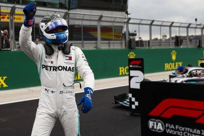 ボッタスが0.006秒差でポール獲得「このグリッドを必ず優勝につなげたい」:メルセデス F1イギリスGP