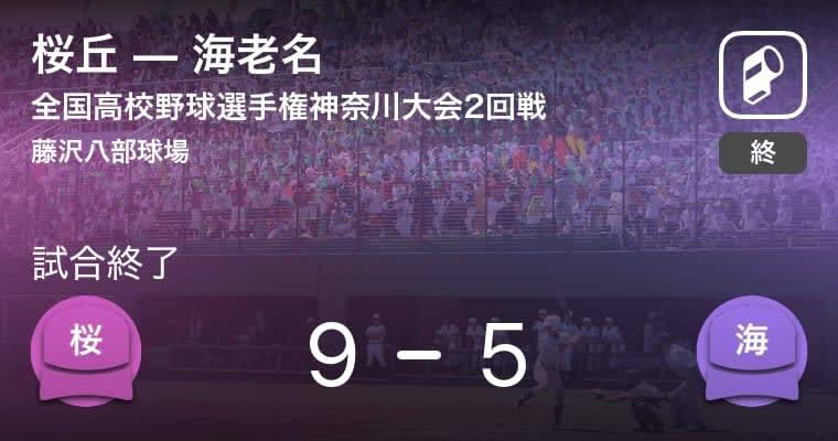 【全国高校野球選手権神奈川大会2回戦】桜丘が海老名に勝利