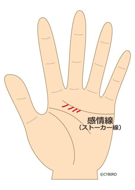 手相を見て!思い当たる節はある??手の中に潜むストーカー気質線!