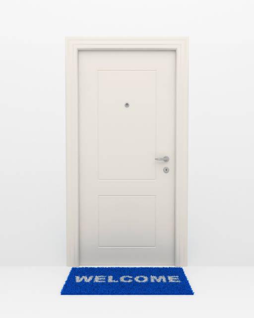東玄関*ブルー orグリーンの玄関マット