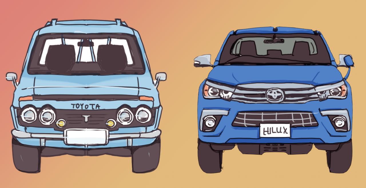【ハイラックス】半世紀経った8代目ハイラックスは初代とどこが違う? スペックや大きさなどを比較!
