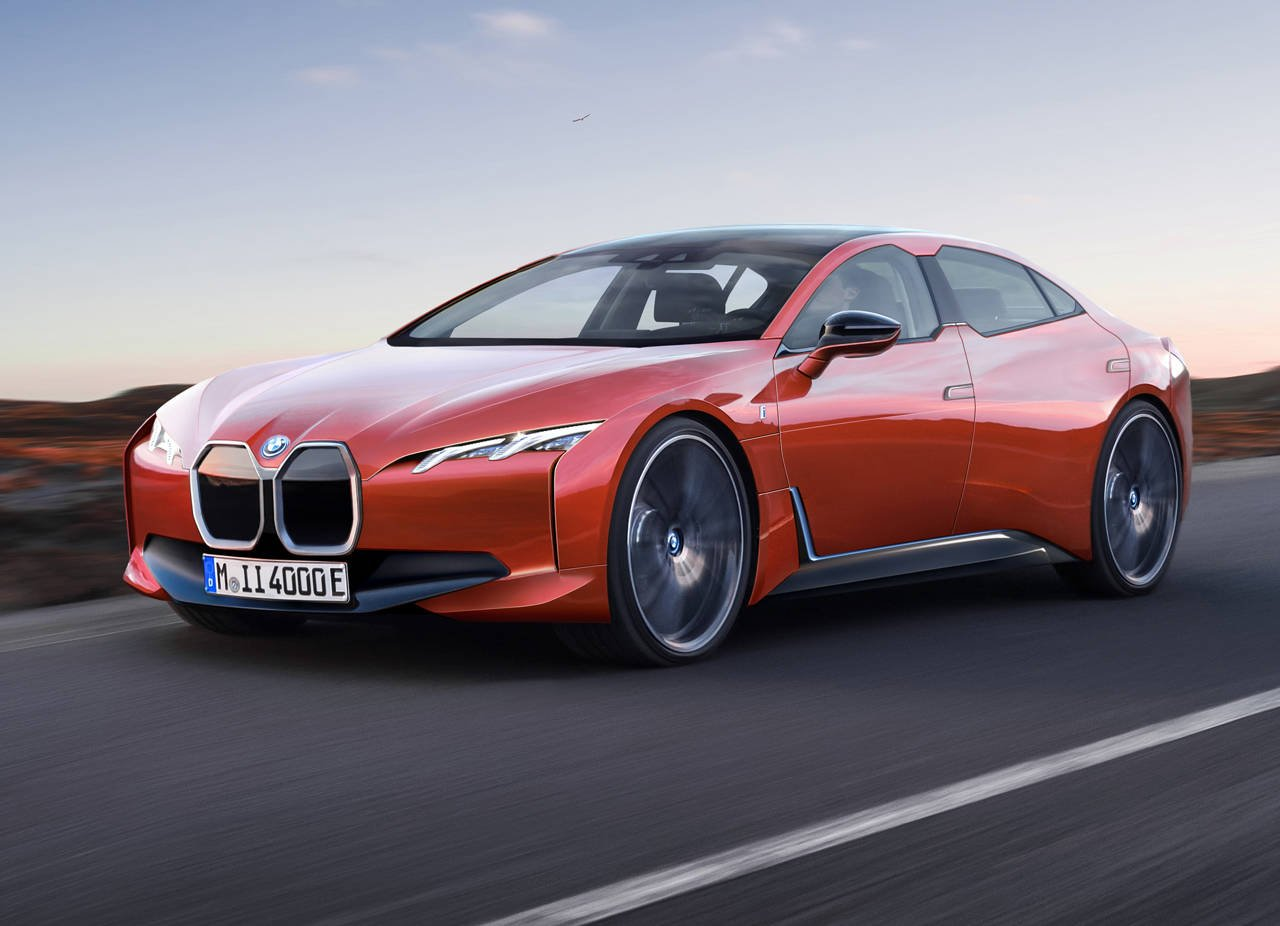 BMW「i4」市販型がこれだ!テスラを圧倒する航続力、CGを公開!