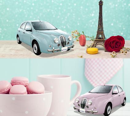 光岡自動車で特別仕様ビュートなでしこフレンチマカロンが登場。可愛くて美味しそう!!!