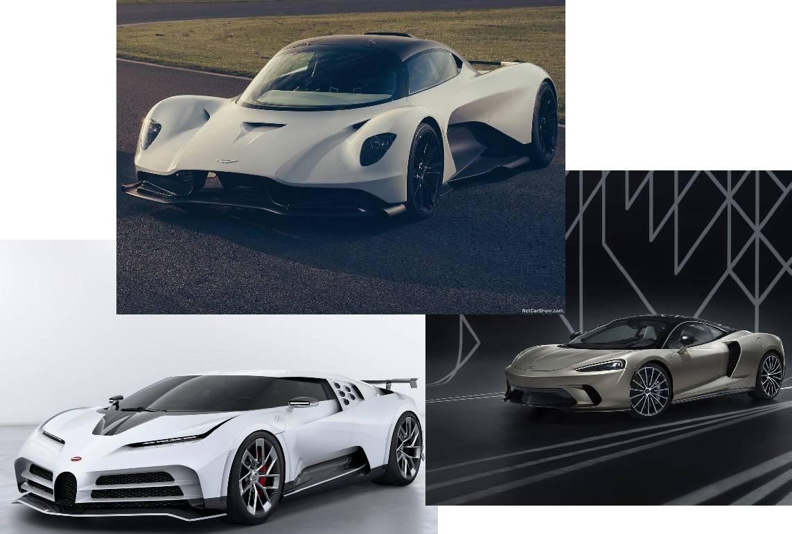 ブガッティ、アストンマーティン、マクラーレンが新作スーパーカーを公開!