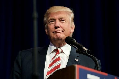 Headshot of Donald Trump wi...