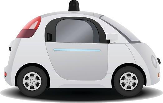 自動自己駆動ドライバ不要車の 3 D レンダー