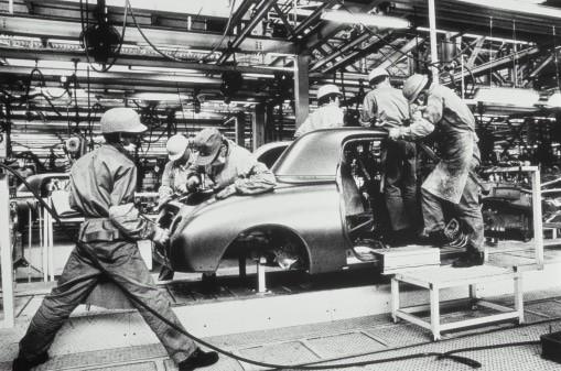 Japan, Yokohama, car produc...