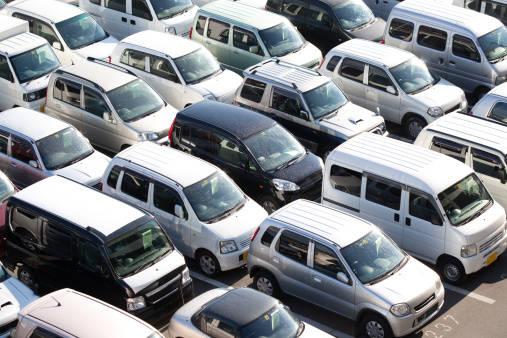Japanese used car auction lot