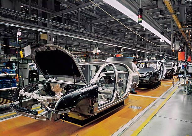 自動車生産ライン(三菱の工場とは関係ありません)