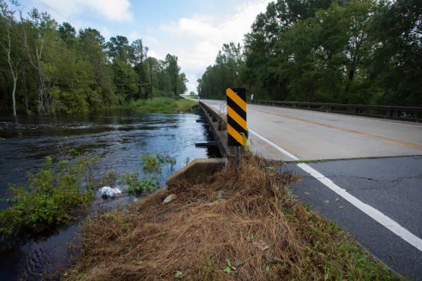 「フローレンス」で被害を受けたノース ・ カロライナ州の橋