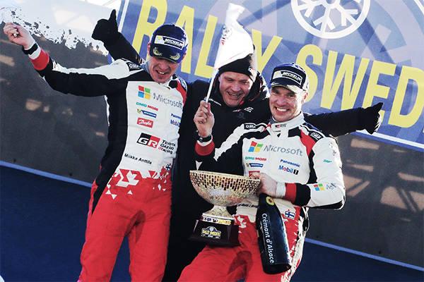WRC第2戦ラリー・スウェーデン デイ4ラトバラが首位の座を守り今季初優勝トヨタに18年ぶりの勝利をもたらす | トヨタグローバルニュースルーム (2988)