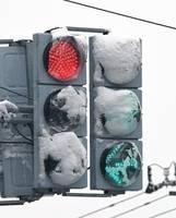LED信号機、雪溶けず「白信号」 着雪で見えにくく、警察官が除雪 | 社会 | 福井のニュース | 福井新聞ONLINE (10577)