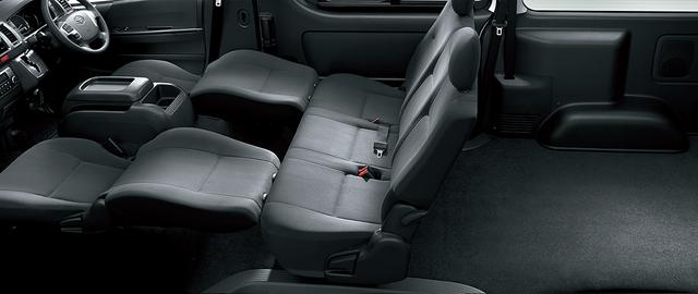 トヨタ ハイエース バン | 室内・インテリア | 室内空間 | トヨタ自動車WEBサイト (13444)