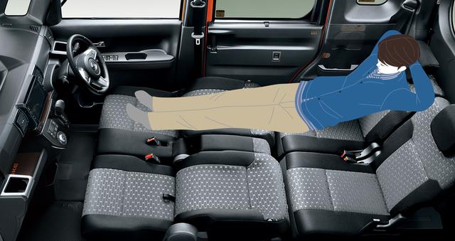 【公式】ウェイクの車内空間と荷室 ダイハツ (13840)