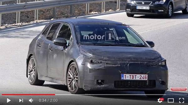 Next Gen Toyota Auris Corolla Spy Shots - YouTube (19351)