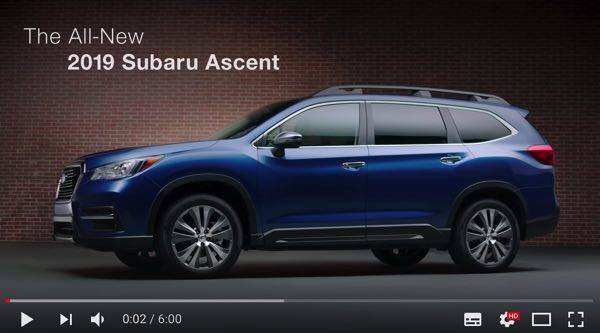 Introducing the 2019 Subaru Ascent SUV | New Model Walkaround - YouTube (19739)