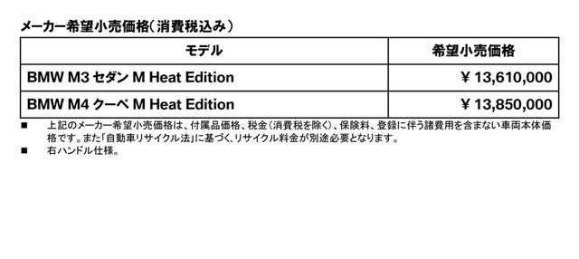 サーキットで卓越した走行性能を発揮する BMW M3 セダン/M4 クーペ Competition の限定モデル「M Heat Edition」を発表 (20700)