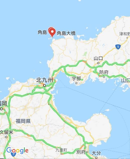 角島大橋(角島)の位置