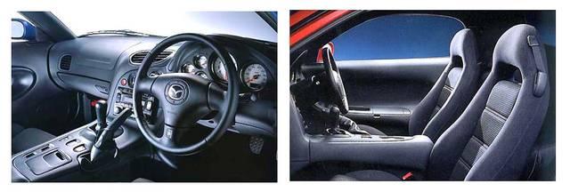 RX-7 車内