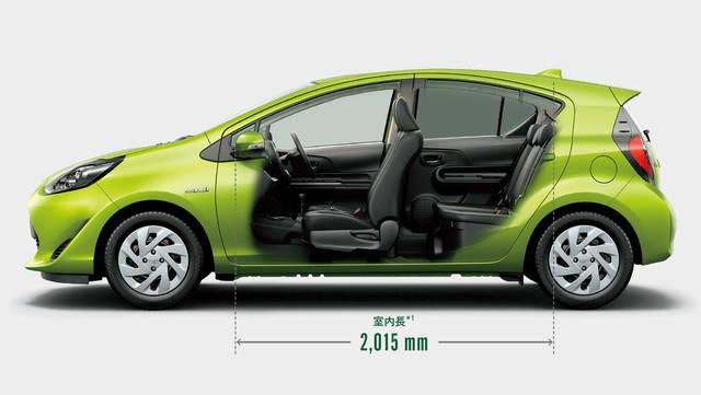 トヨタ アクア | 室内 | スペース | トヨタ自動車WEBサイト (38646)