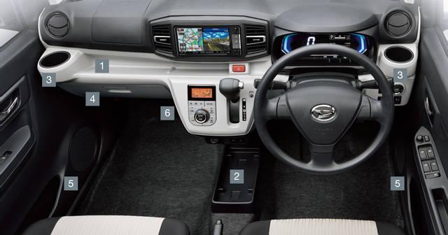 【公式】ミライースの車内空間と荷室|ダイハツ (38684)
