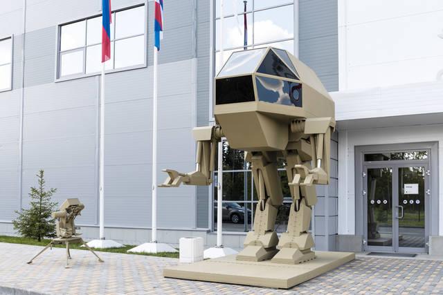 同社が開発中の、二足歩行型軍用ロボット