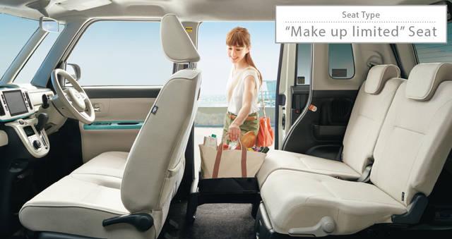 【公式】ムーヴ キャンバスの車内空間と荷室|ダイハツ (44573)