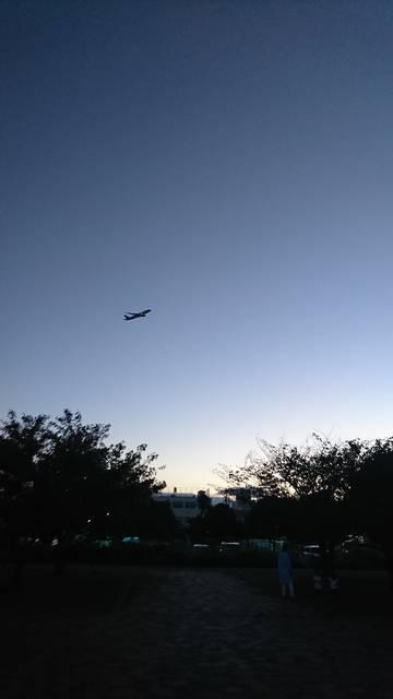 羽田空港から離陸した直後の飛行機