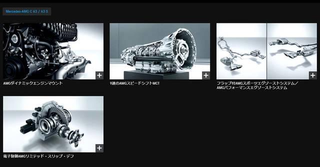 Mercedes-AMG C 63/63 S 装備