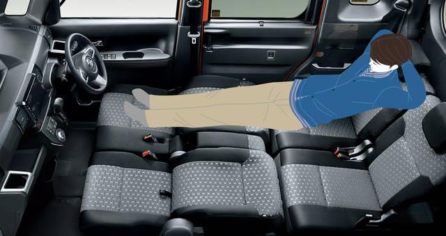 【公式】ウェイクの車内空間と荷室|ダイハツ (51064)