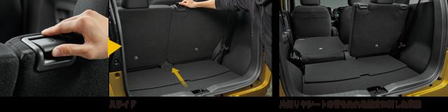 収納スペース・その他装備 | 装備・メーカーオプション | eKクロス | 軽自動車 | カーラインアップ | MITSUBISHI MOTORS JAPAN (58257)