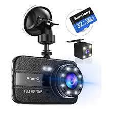 Amazon | 【改良版32Gカード付き】 ドライブレコーダー 前後カメラ 1080PフルHD 1800万画素 ドラレコ 170°広視野角 SONYセンサー/レンズ 常時録画 G-sensor WDR (ブラック) | ドライブレコーダー本体 | 車&バイク (60222)