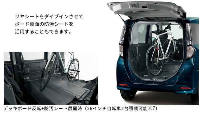 【公式】トールの車内空間と荷室|ダイハツ (60270)