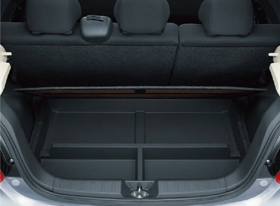 収納スペース・その他装備 | 装備・メーカーオプション | ミラージュ | 乗用車 | カーラインアップ | MITSUBISHI MOTORS JAPAN (62927)