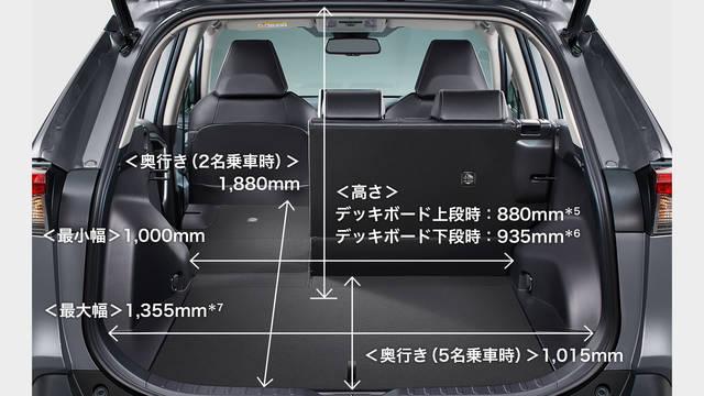 トヨタ RAV4 | ユーティリティ | スペース・収納 | トヨタ自動車WEBサイト (63119)