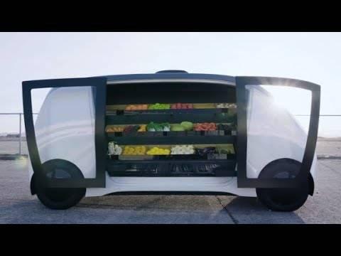 インド人もびっくり! スマホの操作1つで、生鮮食料品を満載した自動運転車が